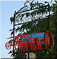 TM3569 : Peasenhall village sign by Adrian S Pye