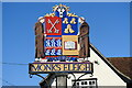 TL9647 : Monks Eleigh village sign by Adrian S Pye