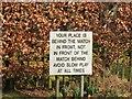 NT2340 : Philosophical sign, Peebles golf club by Jim Barton