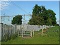 SP3394 : Footpath by the railway near Hartshill, Warwickshire by Roger  Kidd