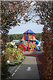 NJ3558 : Play Area at The Nurseries by Anne Burgess