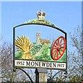 TM2358 : Monewden village sign by Adrian S Pye