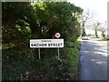TG3224 : Tunstead Village Road Sign by David Pashley