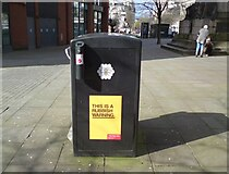 SJ8498 : This is a rubbish warning by Gerald England