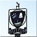 TM3046 : Sutton village sign by Adrian S Pye
