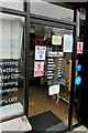 ST3091 : Notices at the entrance to Hairtek, 169 Larch Grove, Newport by Jaggery