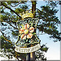 TM0569 : Westhorpe village sign by Adrian S Pye
