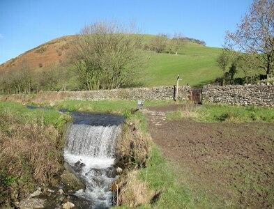 SD2879 : Weir near High Ure, Ulverston by Adrian Taylor