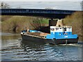 SO8540 : A barge on the River Severn by Philip Halling