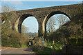 SX8957 : Viaduct above Broad Sands by Derek Harper