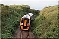 SH5728 : Railway at Llandanwg by Stuart Wilding