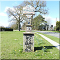 TL7788 : Weeting village sign by Adrian S Pye
