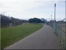 NT2276 : Path, Forthquarter Park by Richard Webb
