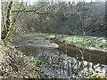 SD9927 : Disused mill pond, Nutclough Woods by Christine Johnstone
