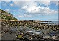 NZ7917 : Derelict harbour pier, Port Mulgrave by habiloid