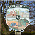 TF8332 : Syderstone village sign by Adrian S Pye