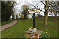 TF8628 : Tatterford village sign by Adrian S Pye