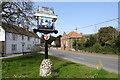 TF7343 : Thornham village sign by Adrian S Pye