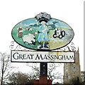 TF7922 : Great Massingham village sign by Adrian S Pye