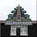 TF8612 : Little Dunham village sign by Adrian S Pye
