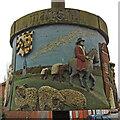 TG0511 : Mattishall village sign (3) by Adrian S Pye