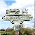 TM2499 : Shotesham village sign by Adrian S Pye