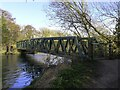 SP5202 : The Thames Path crossing the footbridge by Steve Daniels