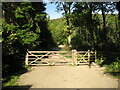 NY2724 : Gate at Spooney Green by Adrian Taylor