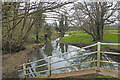 TG0406 : The River Yare from the bridge on Mill Road, Coston by Adrian S Pye