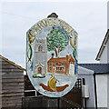 TG0207 : Garvestone village sign by Adrian S Pye