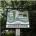 TF7602 : Gooderstone village sign by Adrian S Pye