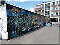 TQ3282 : View of street art on Old Street by Robert Lamb