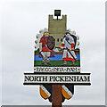 TF8606 : North Pickenham village sign by Adrian S Pye