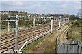 ST3084 : Railway lines north of Cuckoo Bridge by M J Roscoe