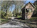 NZ0116 : Disused railway route with disused signal box by Trevor Littlewood