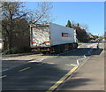 ST3091 : White Spar articulated lorry, Almond Drive, Malpas, Newport by Jaggery