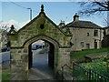 SE1942 : St Oswald's church, Guiseley - lych gate by Stephen Craven