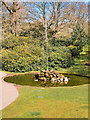 SJ7387 : Fountain at Dunham Massey by David Dixon