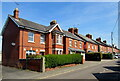 SO8005 : Brick houses in Stonehouse by Jaggery