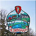 TM4460 : Aldringham village sign by Adrian S Pye