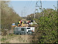 TQ0586 : HS2 works to reroute power line in Colne Valley by David Hawgood
