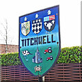 TF7543 : Titchwell village sign by Adrian S Pye