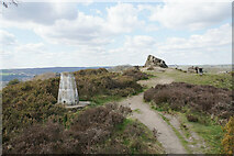 SK3563 : Trig point and The Fabrick by Bill Boaden