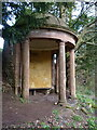 SO7699 : Classical temple in Badger Dingle by Richard Law