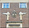 TG2208 : Norwich city coat of arms by Adrian S Pye