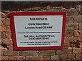 SO8654 : Railway bridge details, Worcester by Chris Allen