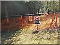 NT2240 : Warning of forestry work, Edston Hill by Jim Barton