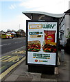ST3090 : Subway advert on a Malpas Road bus shelter, Newport by Jaggery