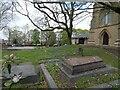 SJ9593 : Hyde Chapel graveyard by Gerald England