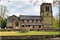 SJ7980 : War Memorial and Parish Church, Mobberley by David Dixon
